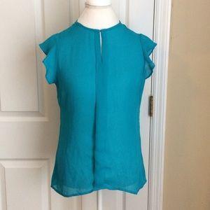 Worthington Women's Blouse Ruffle Sleeves size M